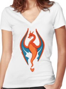 Kanto Imperials Women's Fitted V-Neck T-Shirt