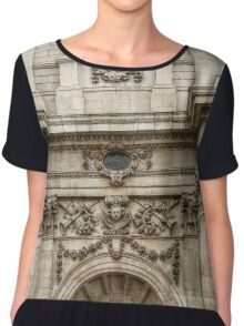 Engaged Columns and Relief Sculptures Chiffon Top