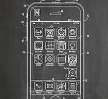 Apple iPhone US Patent Art Steve Jobs by geekuniverse