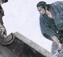 Guts and Miyamoto Musashi Sticker