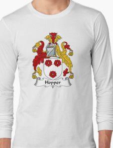 Hopper Coat of Arms / Hopper Family Crest Long Sleeve T-Shirt