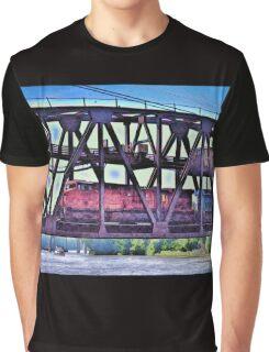 Train On The Bridge Graphic T-Shirt