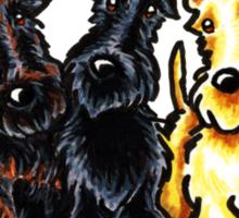Fabulous Five Scotties Sticker