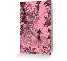 Pink Fantasy Fairy Greeting Card
