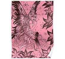 Pink Fantasy Fairy Poster