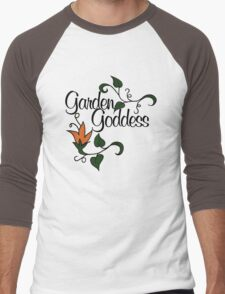 Garden Goddess Men's Baseball ¾ T-Shirt
