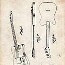 Fender Telecaster Guitar US Patent Art by Steve Chambers