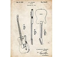 Fender Telecaster Guitar US Patent Art Photographic Print