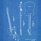Fender Telecaster Guitar US Patent Art Blueprint by Steve Chambers