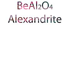 SU:Alexandrite Chemical Formula Photographic Print