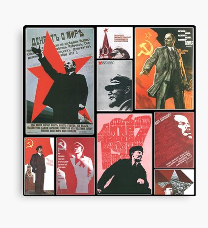 URSS - Cult of personality Canvas Print