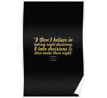 """I don't believe... """"Ratan Tata"""" Inspirational Quote Poster"""