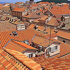 The Terracotta Roofs Of Dubrovnik by Fara