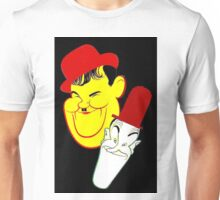 """LAUREL and HARDY"" Art Deco Print Unisex T-Shirt"