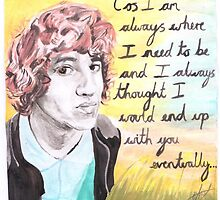 The Kooks - Luke Pritchard - Always where I need to be - Watercolour by RockandRoll Maker