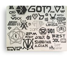 Kpop Boy Group Compilation Canvas Print