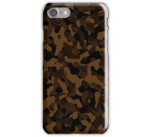 black and brown camouflage iPhone Case/Skin