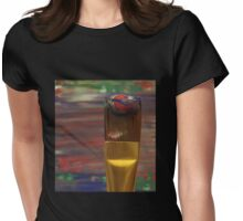 Marbled Paint Brush Womens Fitted T-Shirt