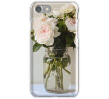 Pale pink roses iPhone Case/Skin
