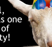 Party Goat Real Party Animal Thank You Sticker