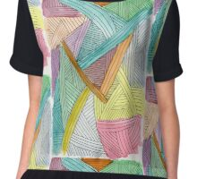 Colorful Watercolor and Ink Abstract Pattern  Chiffon Top
