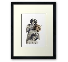 Circus sisters Framed Print