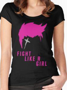 Zarya - Fight Like A Girl Women's Fitted Scoop T-Shirt