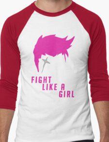 Zarya - Fight Like A Girl Men's Baseball ¾ T-Shirt