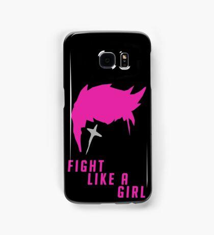 Zarya - Fight Like A Girl Samsung Galaxy Case/Skin