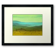 Out in the Sticks Framed Print