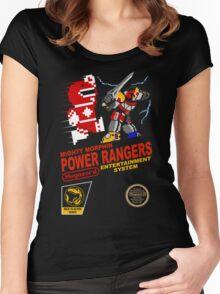 8-bit Power Rangers Women's Fitted Scoop T-Shirt