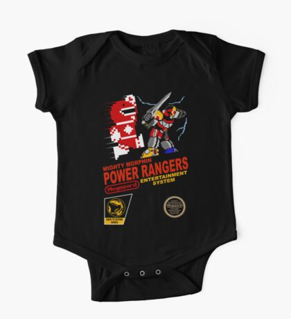 8-bit Power Rangers One Piece - Short Sleeve