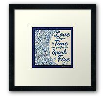 Paisley Design. Shakespeare Quote Framed Print