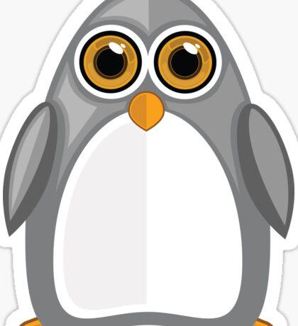 Grey Penguin 2 Sticker