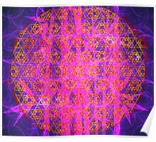 Metatron's Sun Bamboo Bubblegum || Bamboo Empire || Fractal Art Poster