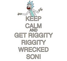 Keep calm and get wrecked Photographic Print
