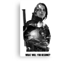 Star Wars : Rogue One - Jyn Erso's fate Canvas Print