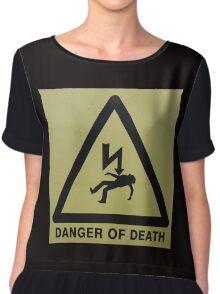 Danger of Death - black Chiffon Top