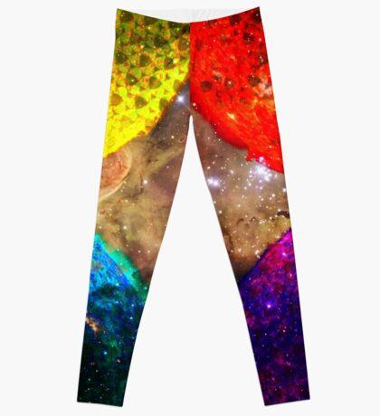 Four Suns Triforce    Future Life Fashion    Fractal Art Leggings