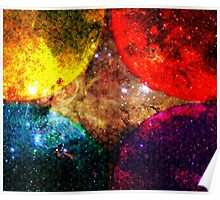 Four Suns Triforce Bright || Future Life Fashion || Fractal Art Poster