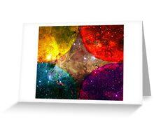 Four Suns Bright || Future Life Fashion || Fractal Art Greeting Card