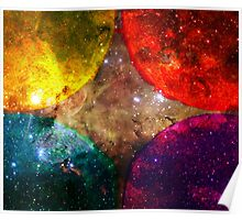 Four Suns Bright || Future Life Fashion || Fractal Art Poster