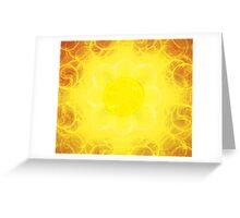 Blooming Sun || Future Life Fashion || Fractal Art Greeting Card