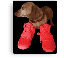 Jeff in Red Octobers Canvas Print