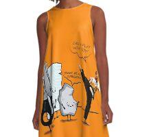 Stone, paper and scissor A-Line Dress