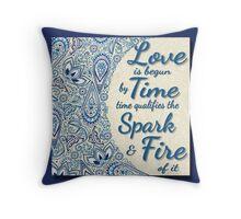 Paisley Design. Shakespeare Quote Throw Pillow