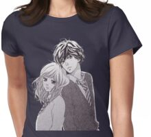 Ao Haru Ride-Manga Futaba and Kou Womens Fitted T-Shirt