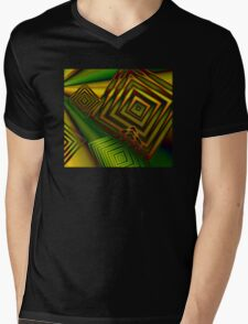 There's Squares Out There Mens V-Neck T-Shirt