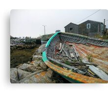 lonely old fishing boat Canvas Print