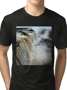 Devil's Throat at Iguassu Falls, Brazil & Argentina.  Tri-blend T-Shirt
